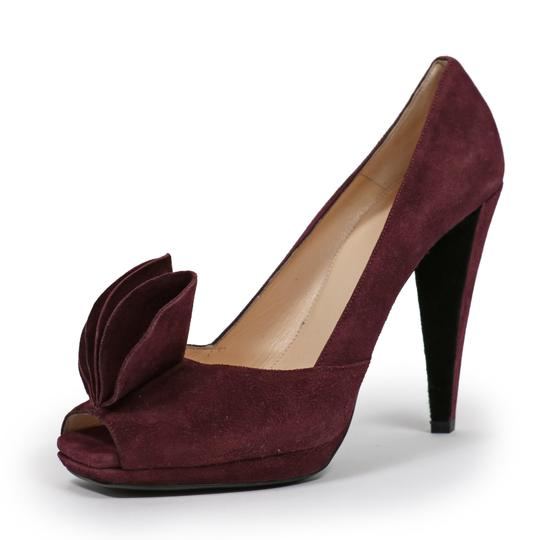 Prada Suede Leather Logo Ribes Pumps