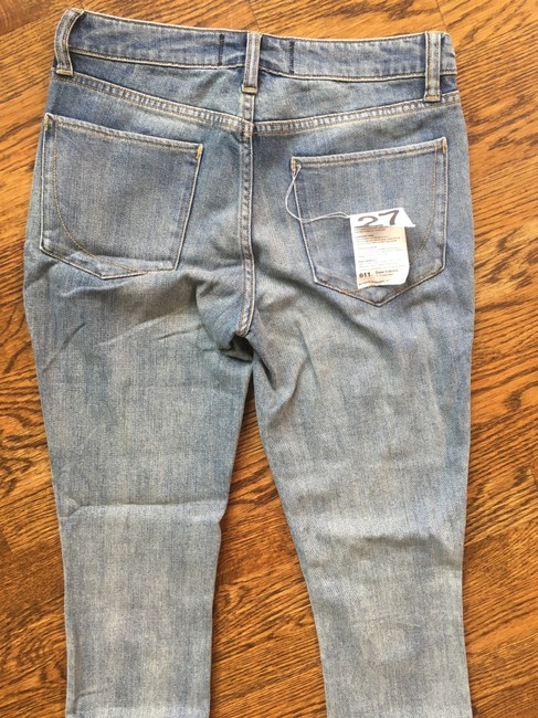 Paper Denim & Cloth 80's Distressed Comfortable Soft Sexy Capri/Cropped Denim-Light Wash