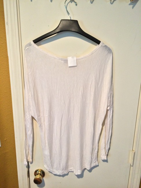Vince Rayon Silk Scoopneck Scoop Top white