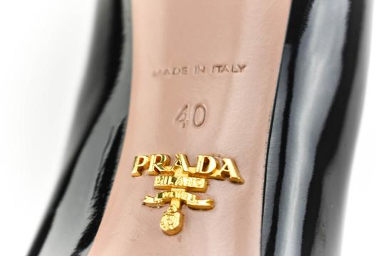 Prada Leather Silver Black Pumps