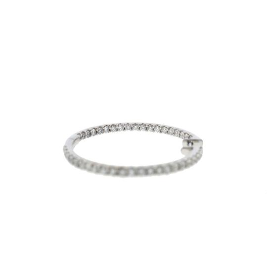 Other 14k White Gold Inside Out Diamond Hoop Earrings