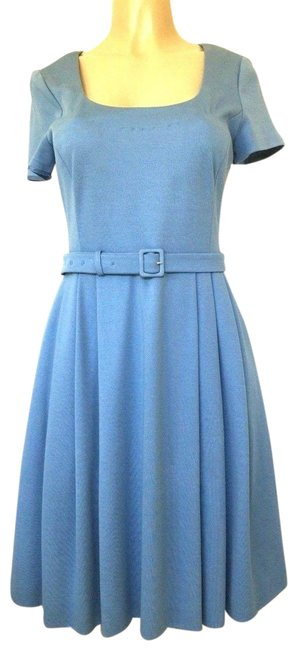 Preload https://item3.tradesy.com/images/prada-blue-light-pleated-fit-and-flare-44-sleeve-knee-length-mid-length-short-casual-dress-size-6-s-23997517-0-1.jpg?width=400&height=650
