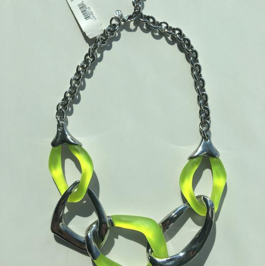 Alexis Bittar NWT Alexis Bittar Silver Lucite Chain Link Necklace