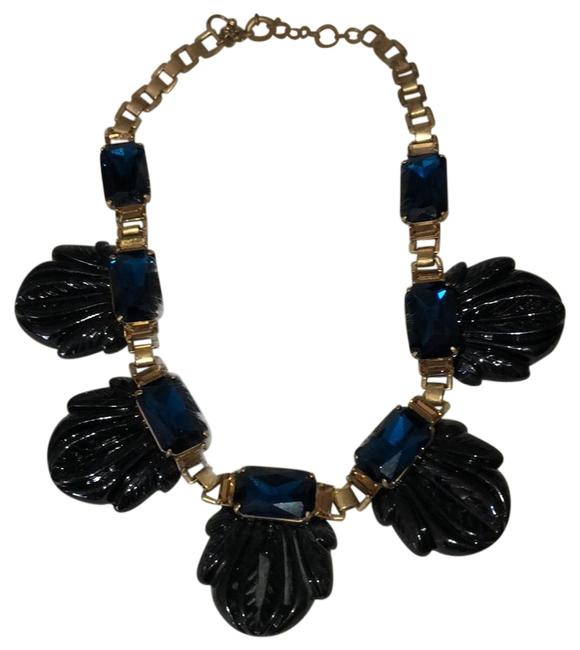 J.Crew Blue and Gold Statement Necklace J.Crew Blue and Gold Statement Necklace Image 1