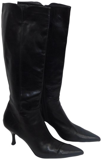 Preload https://img-static.tradesy.com/item/23997530/stuart-weitzman-black-knee-high-point-toe-leather-bootsbooties-size-us-9-narrow-aa-n-0-1-540-540.jpg