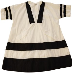 J.Crew short dress White with Black Trim on Tradesy