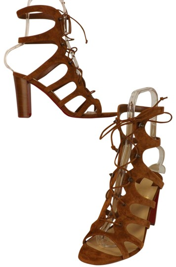Preload https://item3.tradesy.com/images/christian-louboutin-brown-amazoudur-85-cannelle-suede-cage-pumps-italy-sandals-size-eu-39-approx-us--23997552-0-1.jpg?width=440&height=440