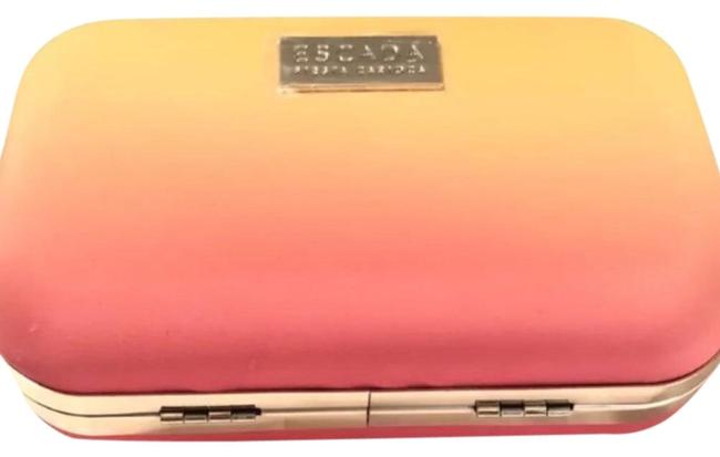 Item - Purse Yellow and Pink Fabric Clutch
