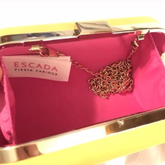 Escada yellow and pink Clutch