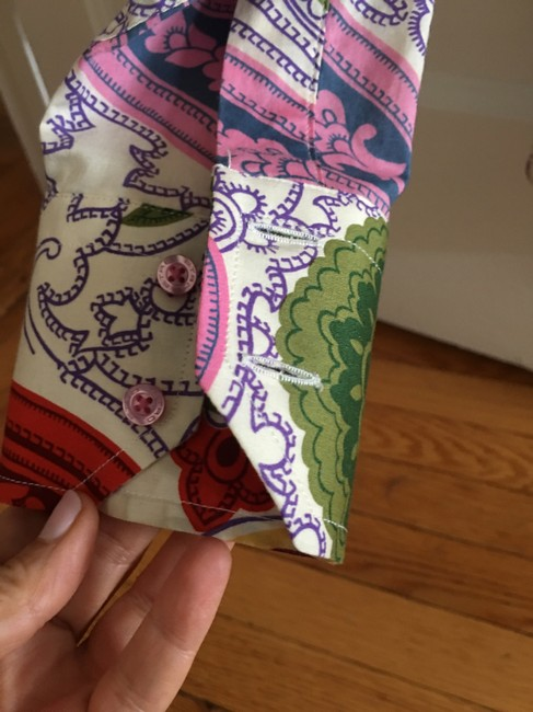 Etro Italian Fitted Button Down Shirt Multi-colored Paisley