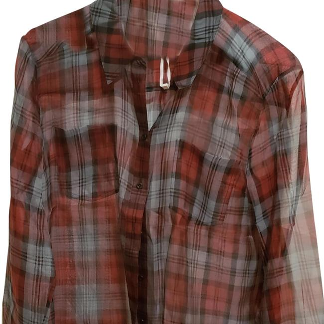 Preload https://item3.tradesy.com/images/elizabeth-and-james-red-plaid-lightly-sheer-blouse-button-down-top-size-6-s-23997572-0-3.jpg?width=400&height=650