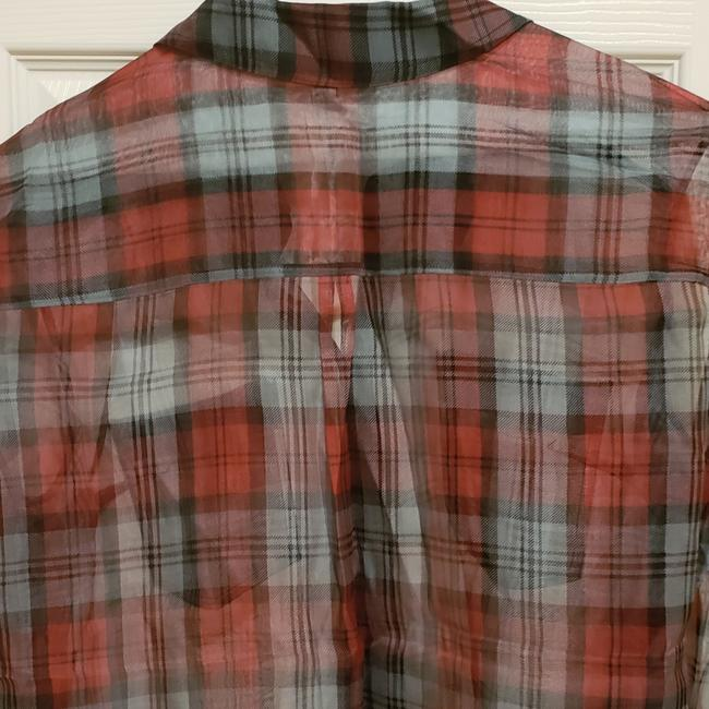 Elizabeth and James Button Down Shirt Red Plaid