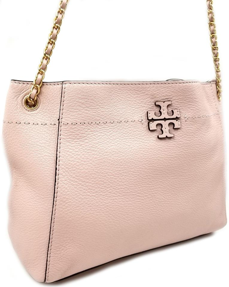 e6897310611 Tory Burch Mcgraw Chain Shoulder Slouchy Devon Sand Leather Tote ...
