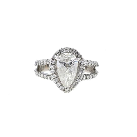 Preload https://item1.tradesy.com/images/14k-white-gold-two-row-setting-pear-shape-diamond-ring-23997580-0-0.jpg?width=440&height=440