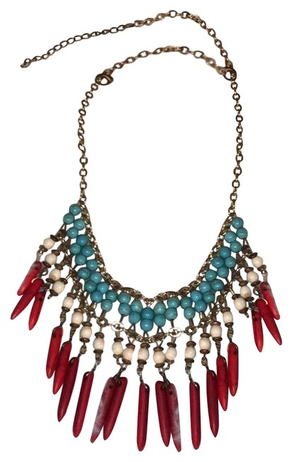 Item - Red White and Blue Statement Necklace