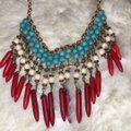 Forever 21 Red White and Blue Statement Necklace Forever 21 Red White and Blue Statement Necklace Image 2