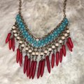 Forever 21 Red White and Blue Statement Necklace Forever 21 Red White and Blue Statement Necklace Image 5