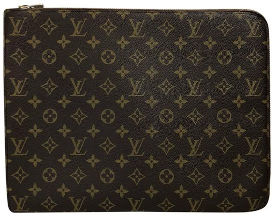 Preload https://item3.tradesy.com/images/louis-vuitton-monogram-lv-portfolio-luggage-brown-coated-canvas-clutch-23997587-0-1.jpg?width=440&height=440