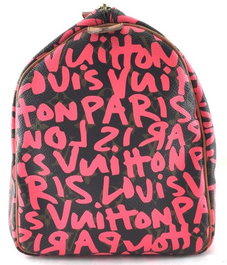 Louis Vuitton Satchel in Limited Edition Monogram with graffiti