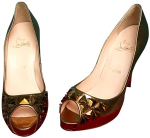 Christian Louboutin Sexy Fashion Designer Trendy Very Prive Gold Platforms