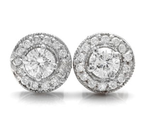 Other 0.85Ct Natural Diamond 14k Solid White Gold Earrings