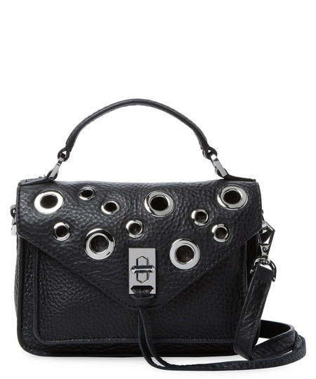 Rebecca Minkoff Grommet Leather Mini Leather Cross Body Bag