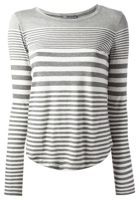 Preload https://img-static.tradesy.com/item/23997633/vince-gray-striped-long-sleeve-blouse-size-8-m-0-2-650-650.jpg