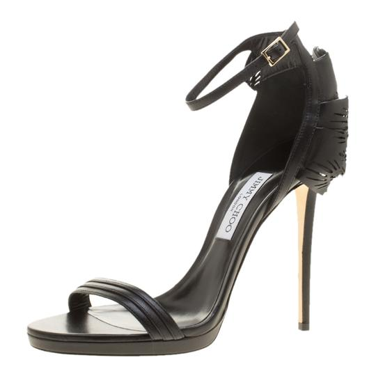 Preload https://img-static.tradesy.com/item/23997634/jimmy-choo-black-leather-kelly-laser-cut-ruffled-trim-ankle-strap-open-toe-sandals-size-eu-41-approx-0-0-540-540.jpg