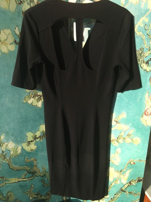Helmut Lang short dress Blue Open Back Cage Back Tunic Day To Night Wear on Tradesy