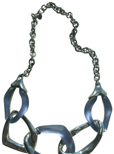 Preload https://img-static.tradesy.com/item/23997652/alexis-bittar-silverlucite-chain-link-necklace-0-1-540-540.jpg