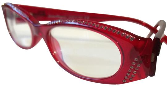 Preload https://img-static.tradesy.com/item/23997687/salvatore-ferragamo-red-with-rhinestones-around-frame-2625b-115-5116-135-sunglasses-0-3-540-540.jpg