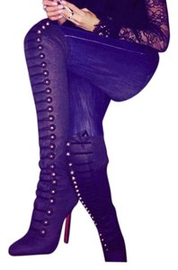 Christian Louboutin dark gray Boots