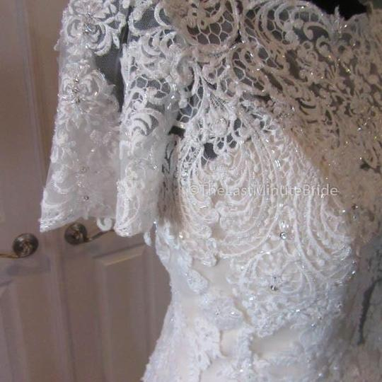 Maggie Sottero Ivory/Champagne Lace Tuerney Modest Wedding Dress Size 12 (L)