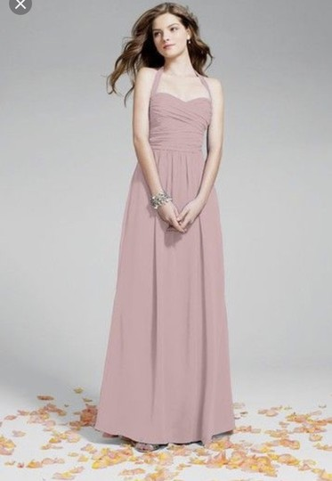 Alfred Angelo Blush Chiffon 942938 Formal Bridesmaid/Mob Dress Size 10 (M)