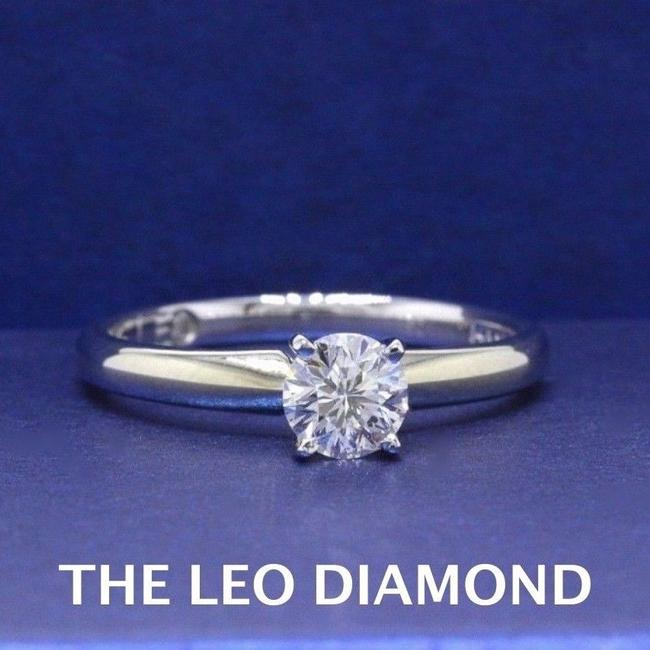 Item - I Si2 Round Solitaire 0.50 Cts 14k White Gold Engagement Ring