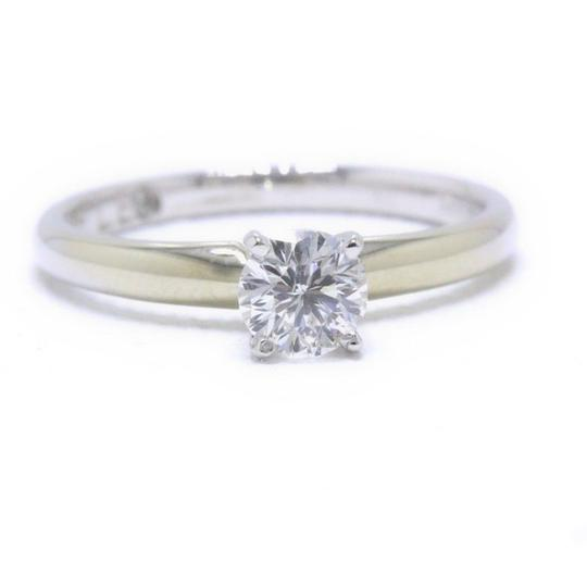 I Si2 Round Solitaire 0.50 Cts 14k White Gold Engagement Ring