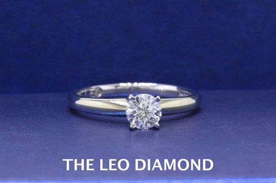I Si2 Round Solitaire 0.50 Cts 14k White Gold Engagement Ring Image 2