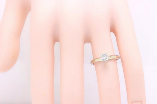 I Si2 Round Solitaire 0.50 Cts 14k White Gold Engagement Ring Image 3