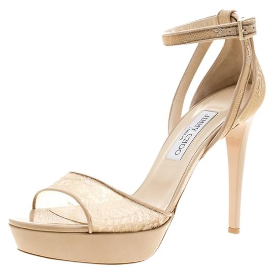 Preload https://img-static.tradesy.com/item/23997733/jimmy-choo-beige-lace-and-patent-leather-kayden-ankle-strap-platform-sandals-size-eu-405-approx-us-1-0-2-540-540.jpg
