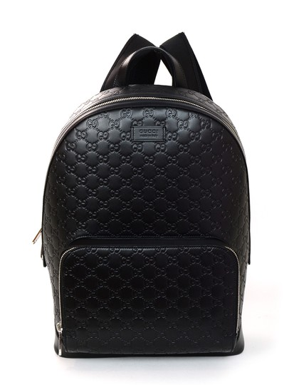 Preload https://item3.tradesy.com/images/gucci-embossed-signature-black-leather-backpack-23997737-0-0.jpg?width=440&height=440