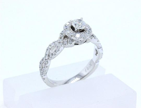 I Diamond Round 1.00 Tcw 14k White Gold Engagement Ring