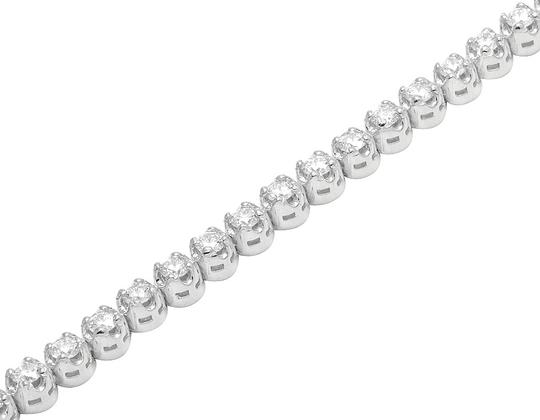 Jewelry Unlimited Mens Ladies 1 Row Tennis Real Diamond Bracelet 10K White Gold 7