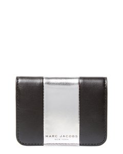 Marc Jacobs NEW Marc Jacobs metallic pvc leather Fold business Card Holder