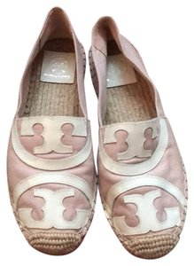Tory Burch Pink And Ivory Flats