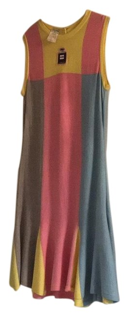 Chanel It Is Combination Of Pink Yellow Blue and Grey Mid-length Formal Dress Size 8 (M) Chanel It Is Combination Of Pink Yellow Blue and Grey Mid-length Formal Dress Size 8 (M) Image 1