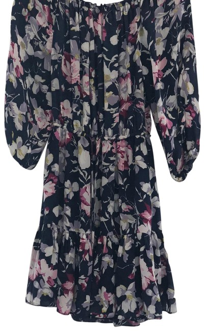 Preload https://img-static.tradesy.com/item/23997894/joie-blue-multi-silk-floral-mid-length-short-casual-dress-size-0-xs-0-1-650-650.jpg