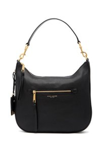 Marc Jacobs Recruit Bauletto Medium Pebbled Leather Satchel in BLACK