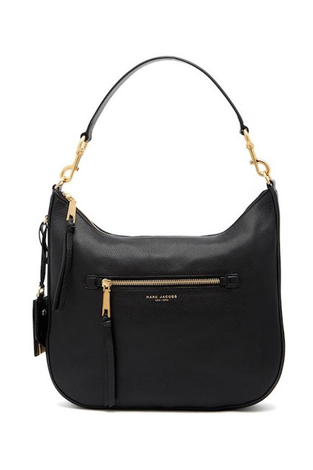 9579d9c704db Marc Jacobs Recruit Bauletto Medium Pebbled Leather Satchel in BLACK Image  0 ...