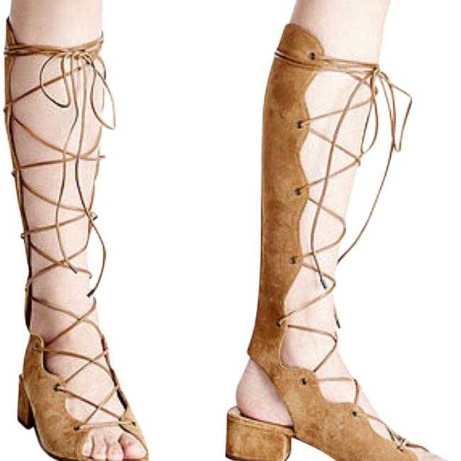 Item - Tan Babies Suede Lace Up Gladiator Sandals Size EU 39 (Approx. US 9) Regular (M, B)