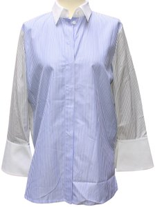 Escada Button Down Shirt Blue & white